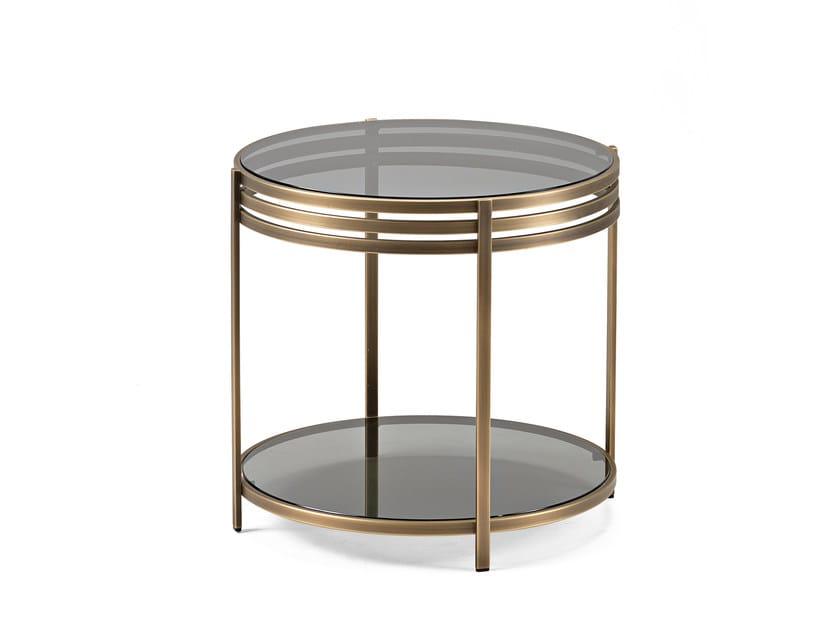 Brass side table ULA | Brass coffee table - Arketipo