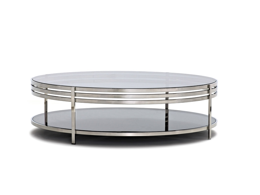 Low glossy steel coffee table ULA | Glossy steel coffee table - Arketipo