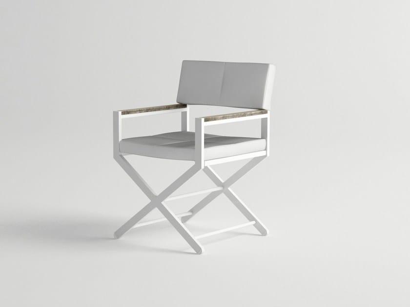 Aluminium garden chair with armrests ULTRA | Garden chair by 10Deka