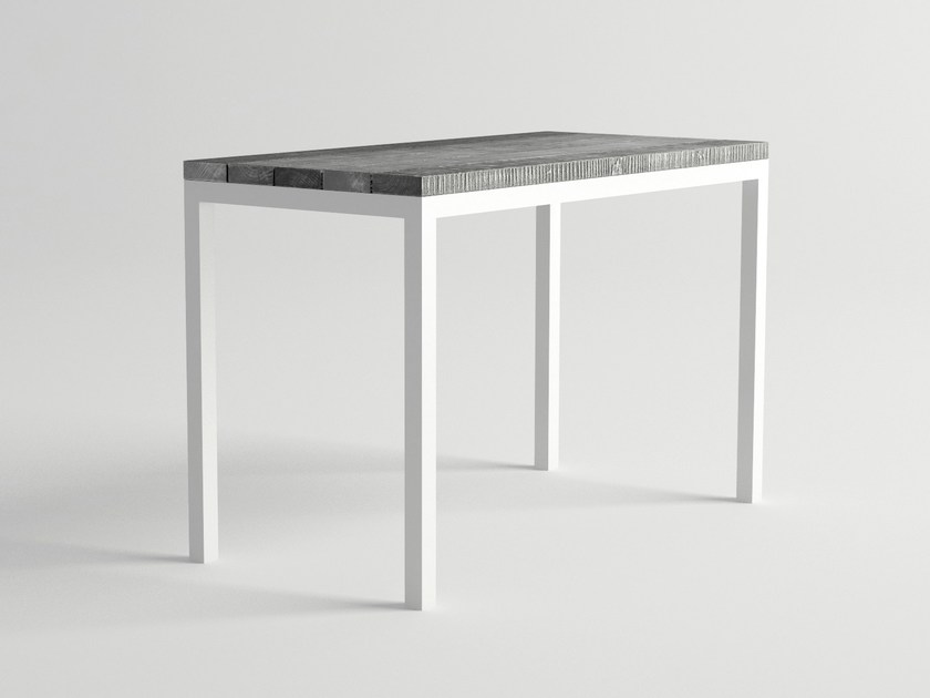 Aluminium and wood high table ULTRA | High table - 10Deka