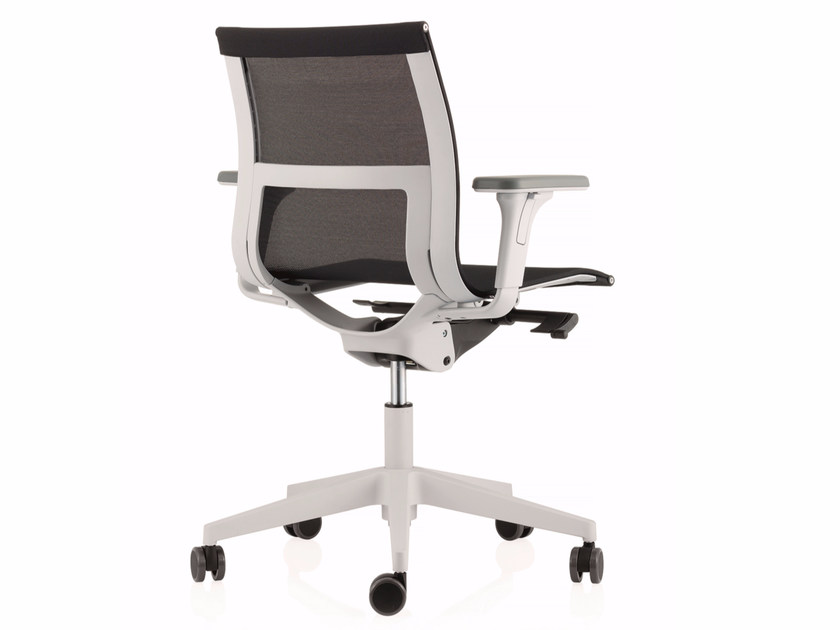 Swivel mesh task chair with 5-Spoke base with casters UNA PLUS HD | Mesh task chair - ICF