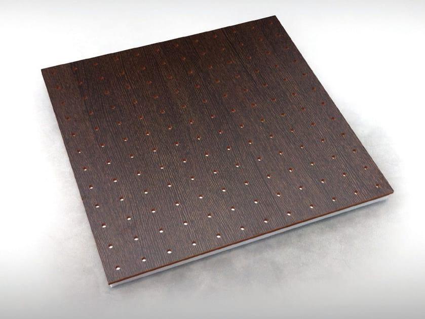 Wooden decorative acoustical panels UNISQUARE BC TECH MEL - Vicoustic by Exhibo