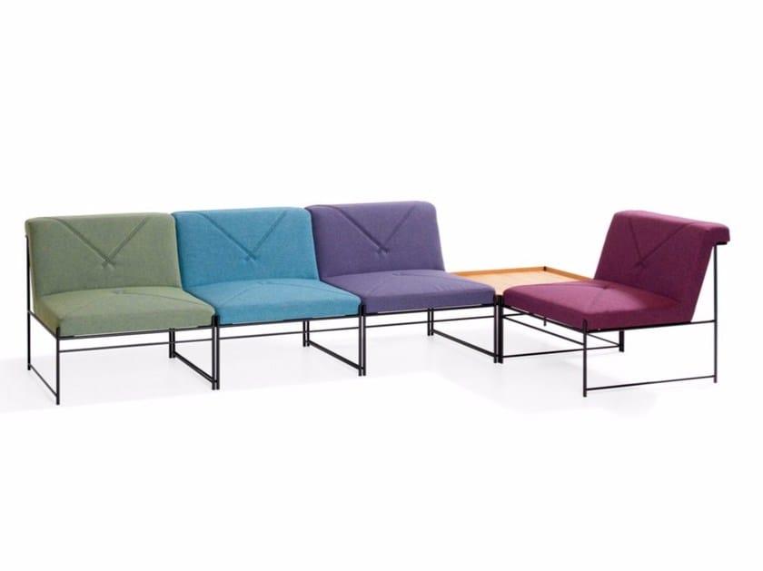 Sectional modular armchair UNIT | Modular armchair - Blå Station