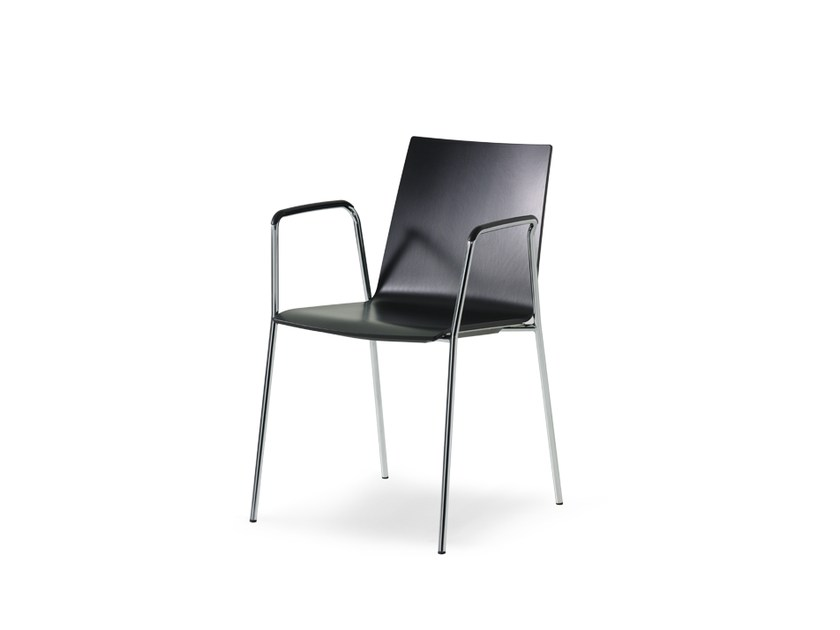 Stackable lacquered restaurant chair UPDATE_B | Chair - Wiesner-Hager