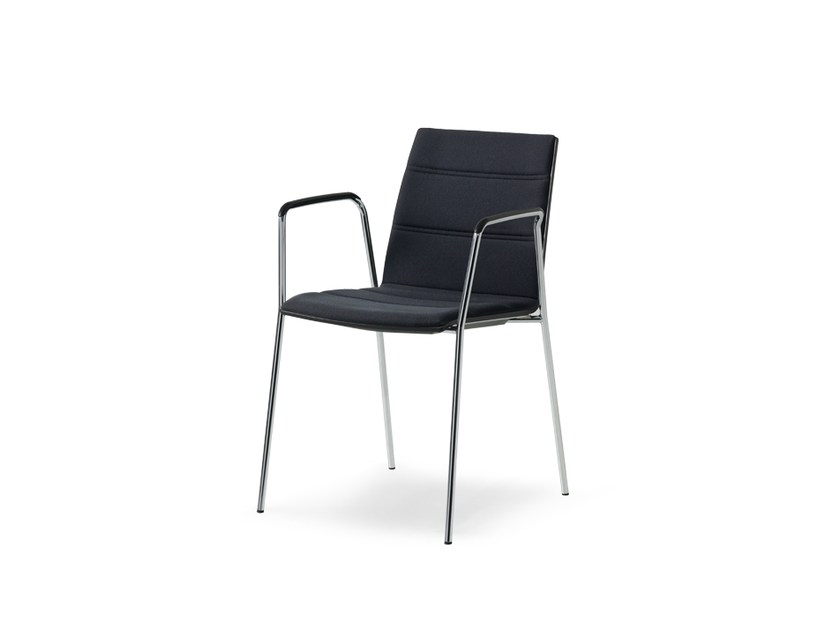 Upholstered restaurant chair with armrests UPDATE_B | Chair by Wiesner-Hager