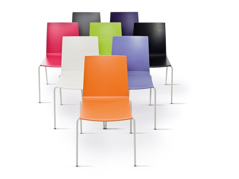Stackable lacquered restaurant chair UPDATE_B | Lacquered chair by Wiesner-Hager