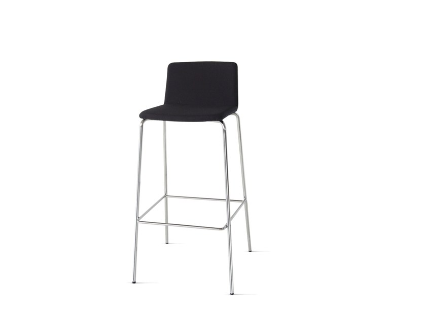 Upholstered barstool with footrest UPDATE_B | Upholstered stool - Wiesner-Hager