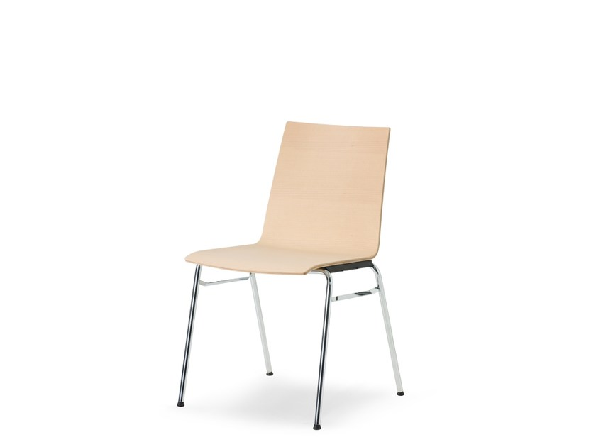 Sedia da conferenza impilabile in legno UPDATE | Sedia by Wiesner-Hager