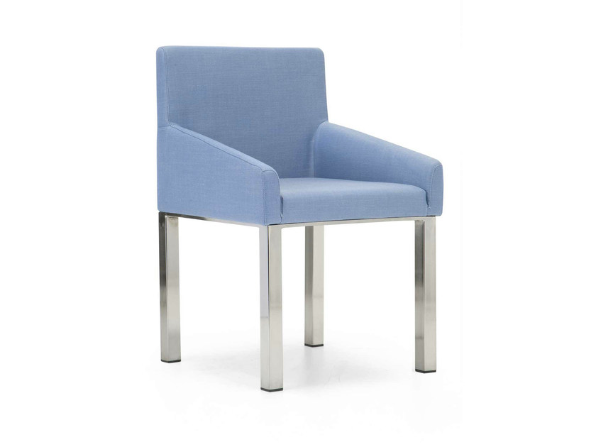 Upholstered fabric guest chair KELLY LARGE | Easy chair by Domingo Salotti