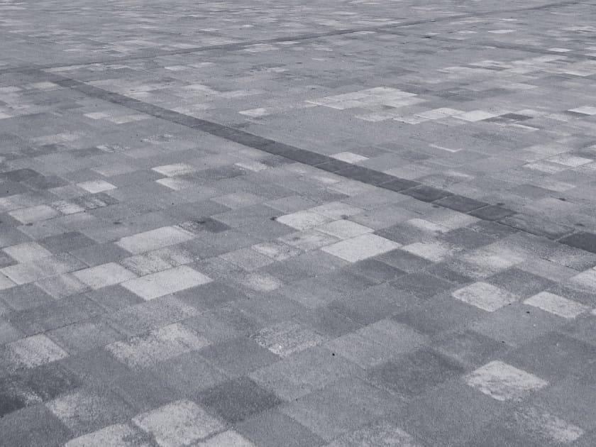 Concrete paving block URBE DRENOPLAV by RECORD - BAGATTINI
