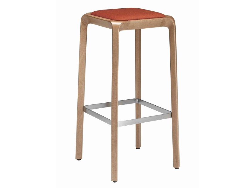 High upholstered stool URBINO 387 | Upholstered stool by Metalmobil