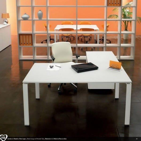 L-shaped office desk US | L-shaped office desk - Castellani.it