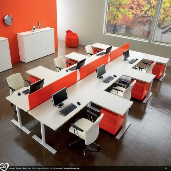 Multiple office workstation US | Office workstation - Castellani.it