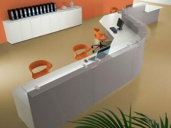 Modular Office reception desk US | Office reception desk by Castellani.it