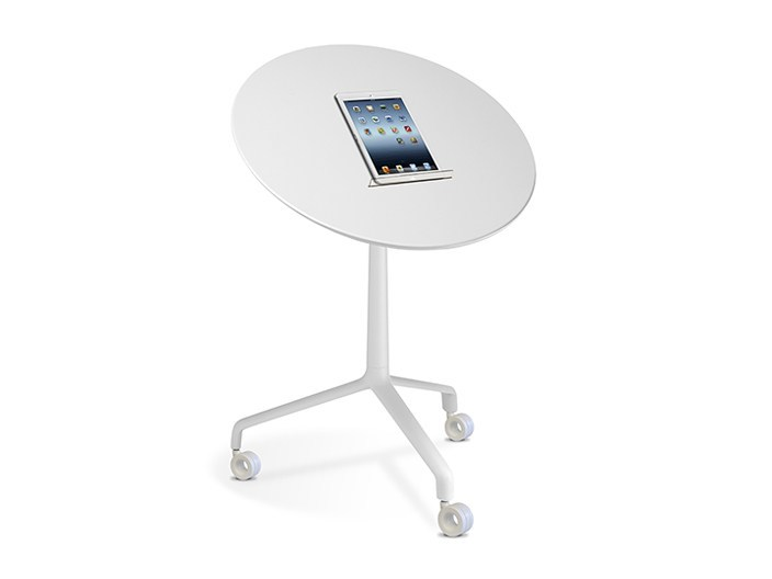 Folding round coffee table with casters USE ME   Round coffee table by SitLand
