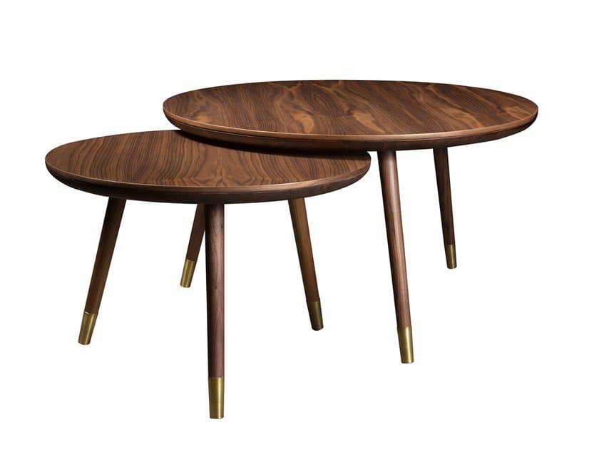 Round wooden coffee table UVA DO MAR | Coffee table - Branco sobre Branco