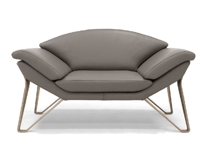 Upholstered leather armchair with armrests V010 | Armchair - Aston Martin by Formitalia Group