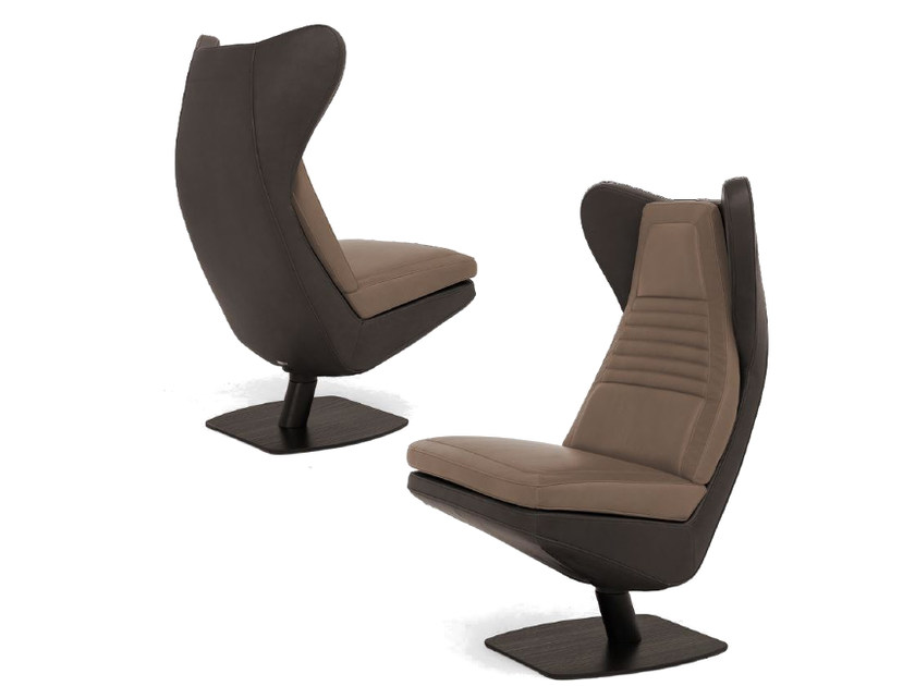 Swivel upholstered leather wingchair V011 | Armchair - Aston Martin by Formitalia Group