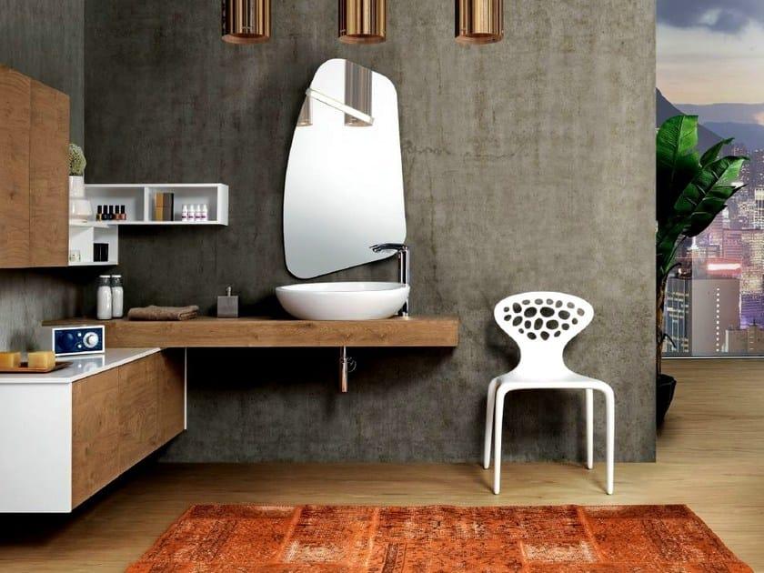 Mobile lavabo angolare sospeso con armadio v57 mobiltesino - Lavabo angolare con mobile ...