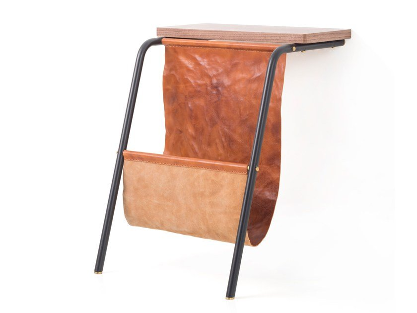 Leather magazine rack VALET MAGAZINE RACK - STELLAR WORKS