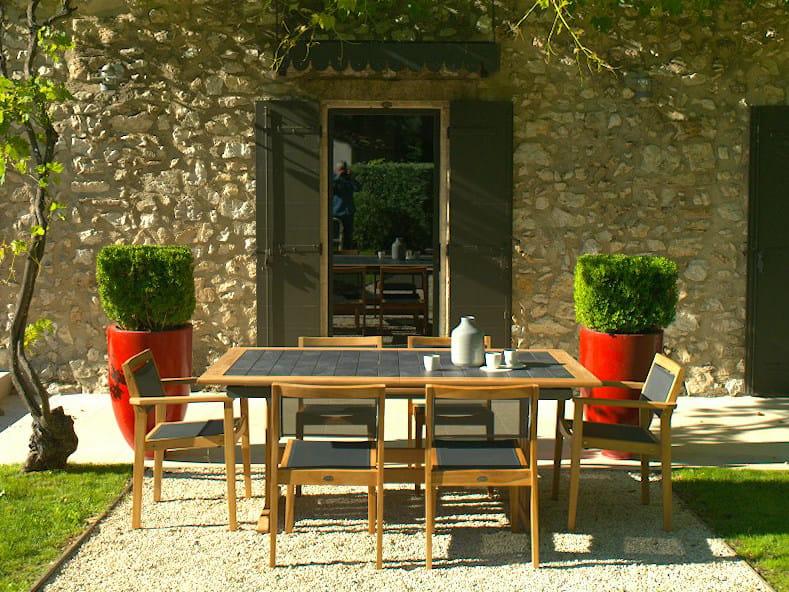 Extending teak garden table VALTECK | Extending table - Les jardins