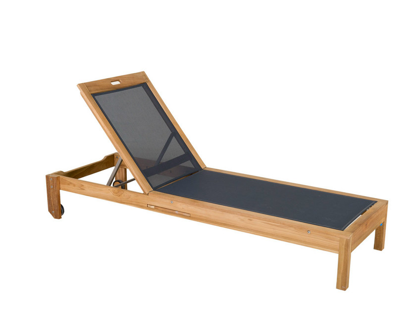 Batyline® garden daybed with Casters VALTECK | Garden daybed by Les jardins