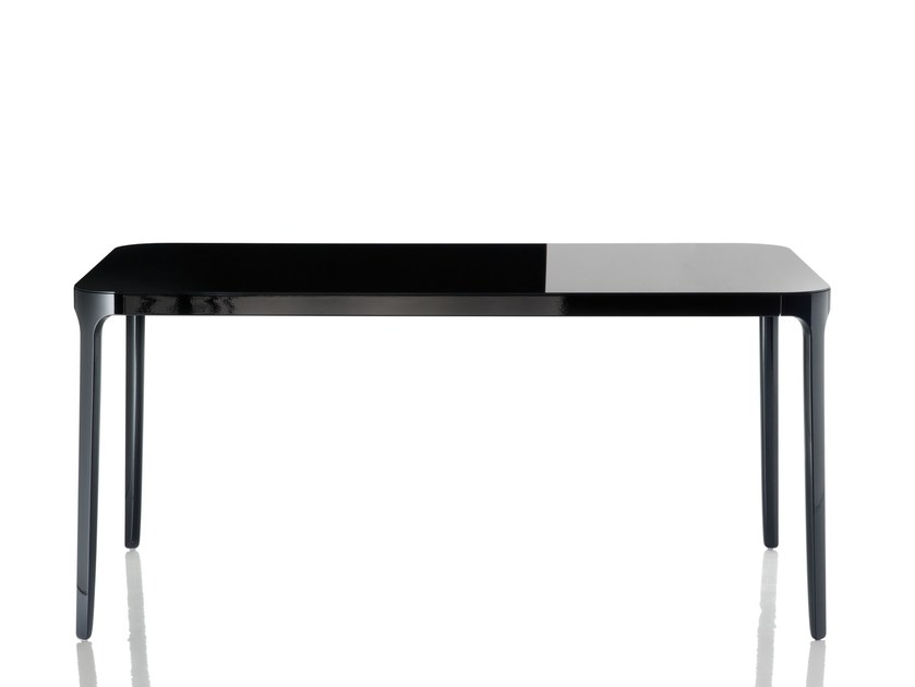 Extending glass and aluminium table VANITY TABLE | Extending table - Magis
