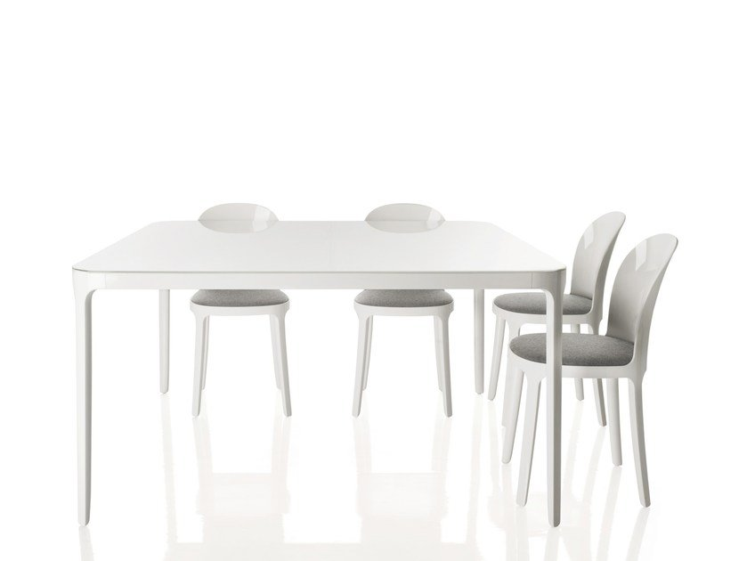 Square glass and aluminium table VANITY TABLE | Table - Magis