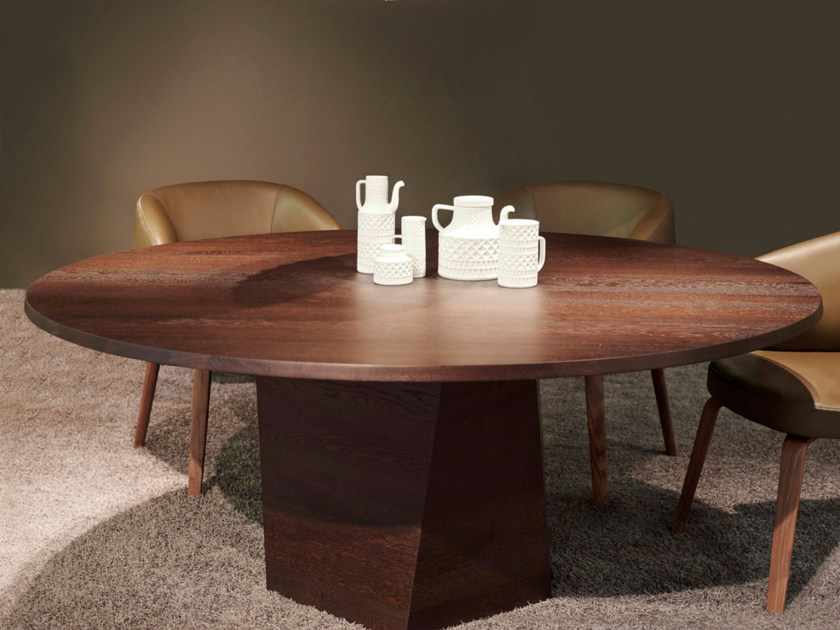Round wooden dining table VARAN | Round table - more