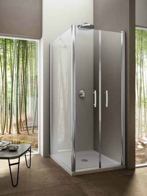 Corner glass shower cabin VARIO PD + WP - Provex Industrie