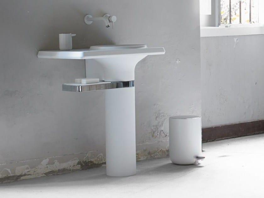 Pedestal Cristalplant® washbasin VASE | Pedestal washbasin - INBANI