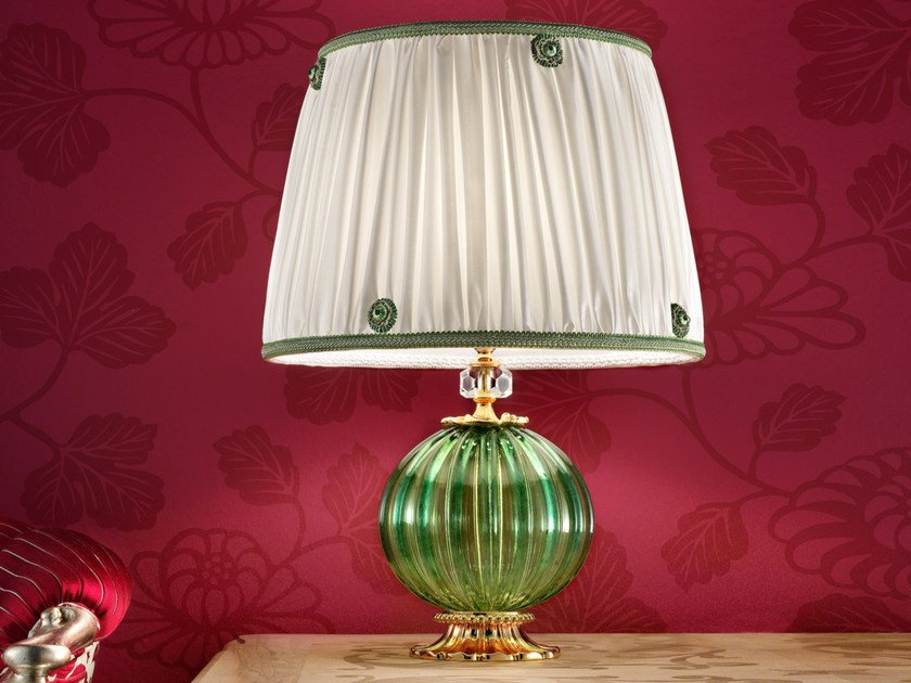 Direct light handmade incandescent Murano glass table lamp VE 1009 | Table lamp by Masiero