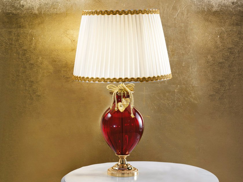 Direct light handmade incandescent Murano glass table lamp VE 1010 | Table lamp by Masiero