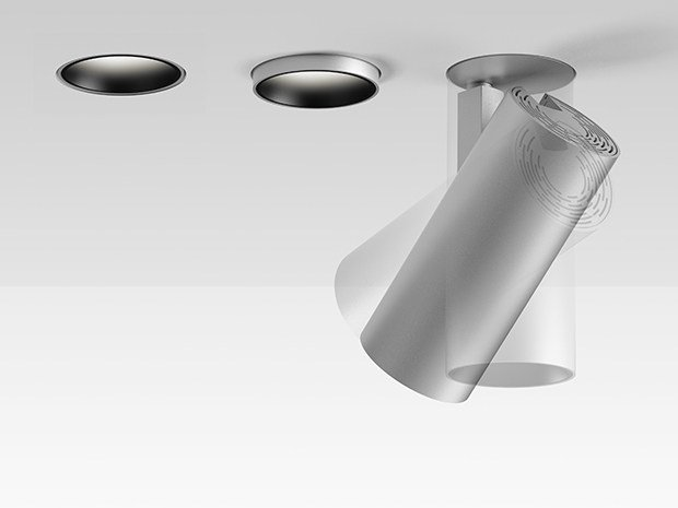 LED adjustable ceiling aluminium spotlight VECTOR INCASSO by Artemide