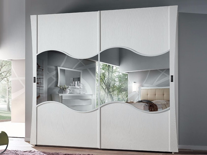 Mirrored wardrobe with sliding doors VELA | Mirrored wardrobe - Arvestyle