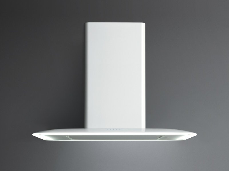 Wall-mounted metal cooker hood with activated carbon filters VELA NRS by Falmec