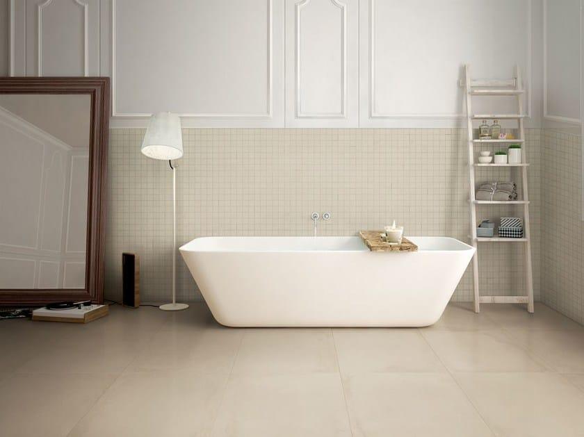 Full-body porcelain stoneware wall/floor tiles VELVET AVORIO by La Fabbrica