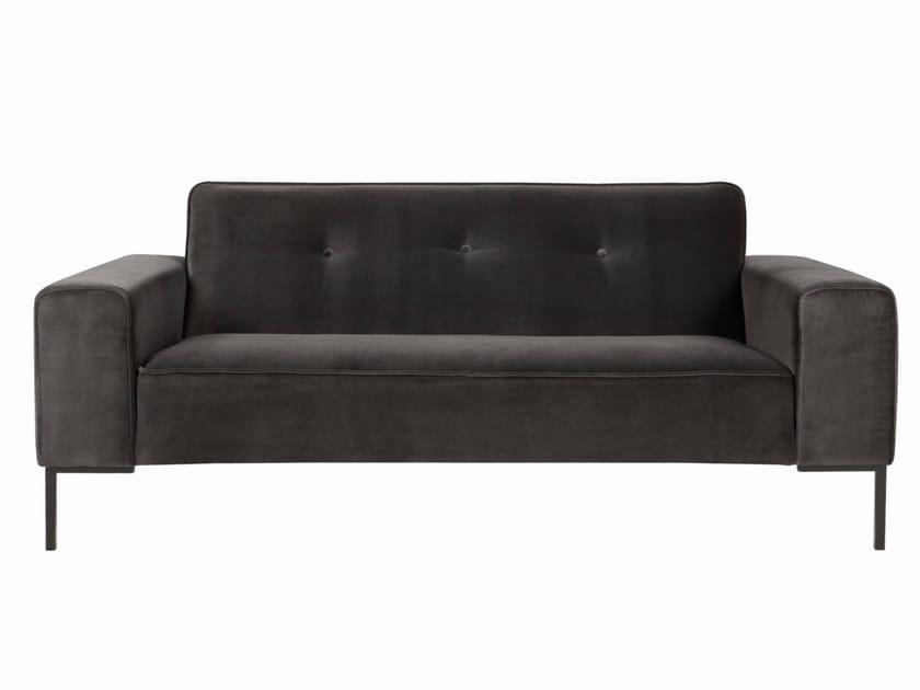 Tufted upholstered 2 seater velvet sofa VILLE | Velvet sofa by SITS