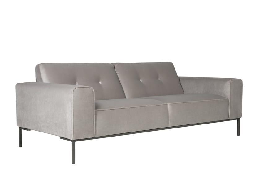 Tufted upholstered 3 seater velvet sofa VILLE | Velvet sofa - SITS