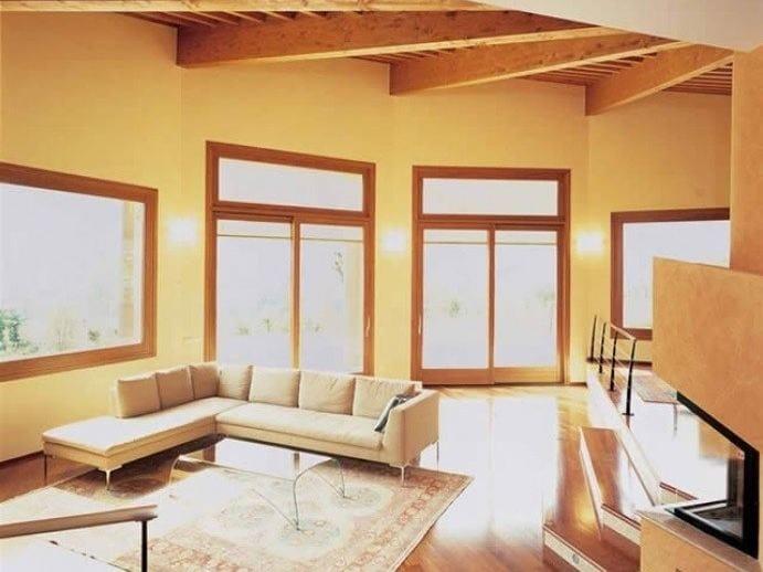 Aluminium and wood patio door VENICE 90 | Patio door - CARMINATI SERRAMENTI