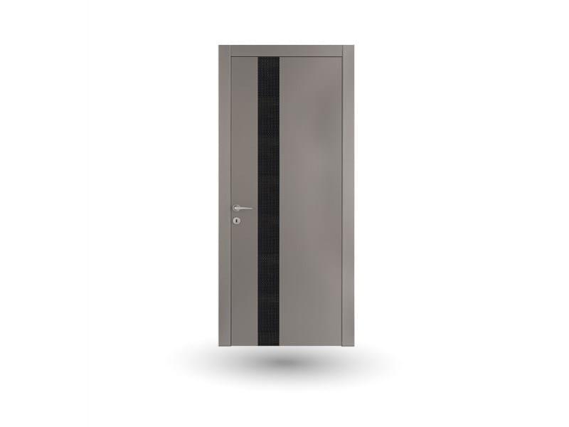 Porta a battente in legno venus 390 laccato grigio con inserto gd dorigo - Porte gd dorigo ...