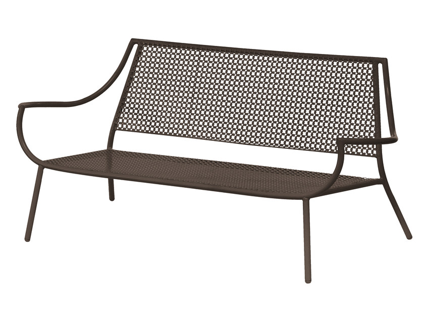 2 seater steel garden sofa VERA | 2 seater sofa - EMU Group S.p.A.