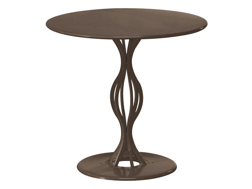 Tavolo da giardino rotondo in acciaio VERA | Tavolo rotondo - EMU Group S.p.A.