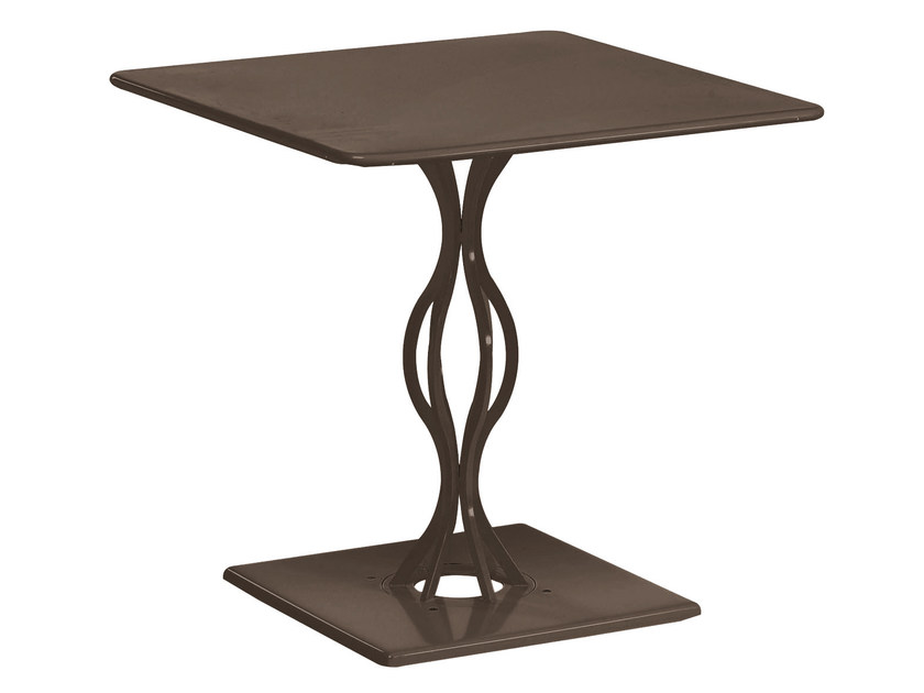 Square steel garden table VERA | Square table - EMU Group S.p.A.