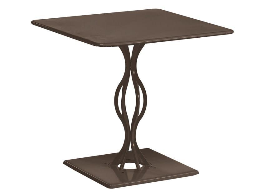 Tavolo da giardino quadrato in acciaio VERA | Tavolo quadrato - EMU Group S.p.A.