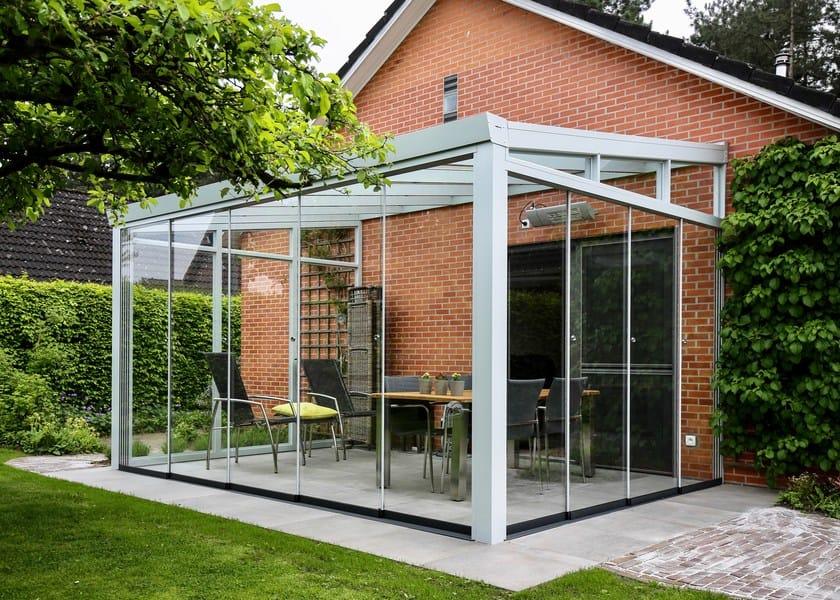 Veranda in alluminio e vetro Veranda con vetrate scorrevoli - Gardendreams