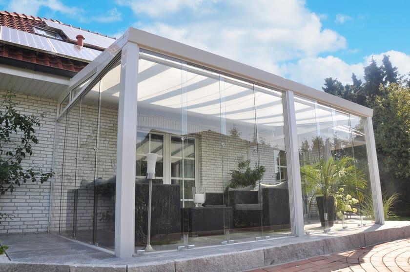 Veranda in alluminio e vetro veranda con vetrate for Piani di fattoria con veranda