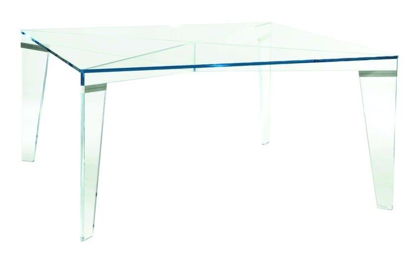 Tavolo rettangolare in vetro vermet roche bobois - Table salle a manger contemporaine roche bobois ...