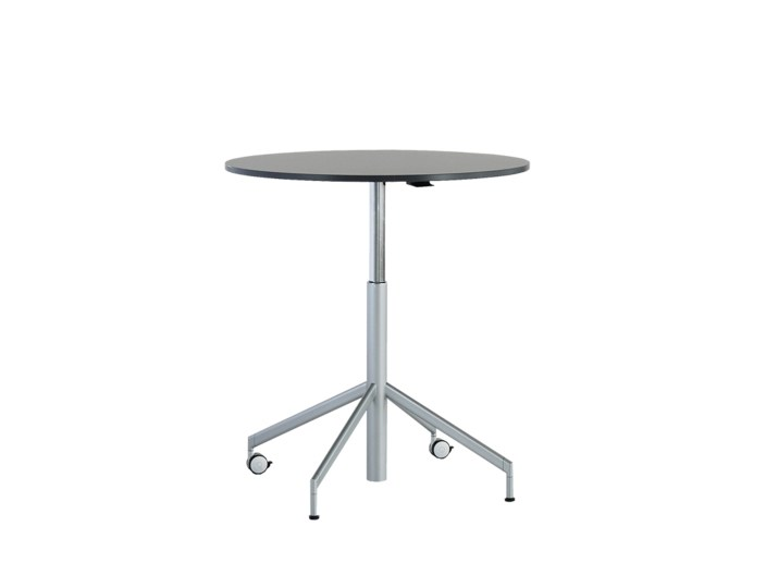 Height-adjustable round table with casters VERON | Height-adjustable table - Wiesner-Hager