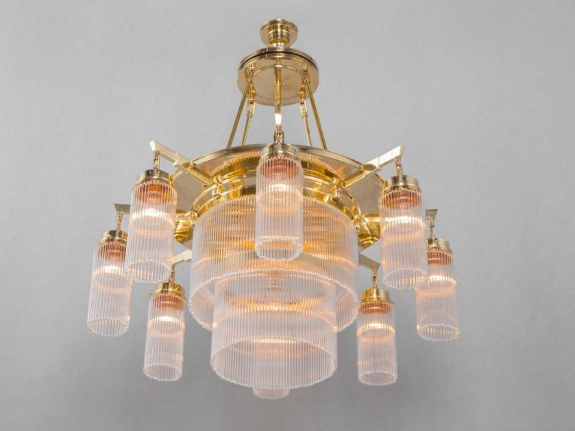 Lampadario a luce diretta fatta a mano in ottone VERSAILLES I | Lampadario - Patinas Lighting